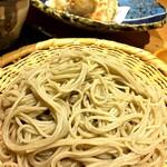 一東菴 - 【二種天ぷらせいろ¥2750】 一枚目:埼玉県三芳のおそば  ( ゚ 3゚) 覚えている天ぷらのラインアップは… 海老・人参・なす・山芋・カボチャ・じゃがいも・青じそ・ズッキーニ 軽い衣でさっくり♪