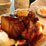 手造り食の店しもだ - 豚バラの角煮とマッシュポテト