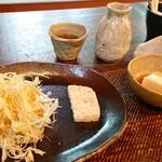 手造り食の店しもだ - サラダと自家製胡麻豆腐と自家製テリーヌ