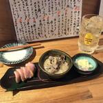 SAKANASAKABAゆいと - 砂肝のライム煮 合鴨のロース煮 平目の塩レモンのせ