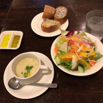 テルツォ - サラダ&スープ&パン