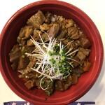 わさび - 料理写真:ピリ辛 牛すじ丼(680円)