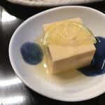 篠山花格子 - 小鉢の卵豆腐