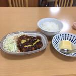 松屋 - 日替わりランチのみそかつ ¥700
