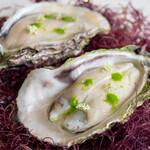 レストラン オオツ - 長崎岩牡蠣 岩牡蠣とエシャロットのムース 柑橘類のゼリー
