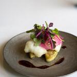 レストラン オオツ - 2020.7 明石鱧のベニエと水茄子