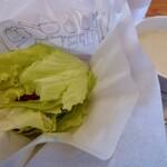 モスバーガー - 菜摘のフィッシュとクラムチャウダー