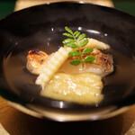 野嵯和 - 金目鯛、ヤングコーン、焼きナスお碗