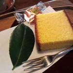 茶処 眞 - 抹茶セット(本日の和菓子、カステラ)