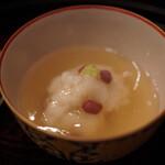 京懐石 八泉 - 新蓮根、甘鯛、大納言小豆