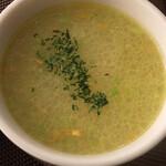 ベアフット カリー - スープ ( ´θ`) ガーリック効いてコクあり