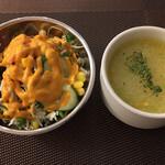 ベアフット カリー - salad ( ´θ`) soup