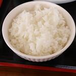 日本一ラーメン - 料理写真:半ライス