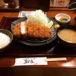 こだわりとんかつ あぢま - 佐伯豚ロースかつ定食(230g) ¥2,178-