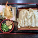 いしうす庵 - 料理写真:天ざるうどん(大)