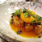 すし屋のこう多郎 - 揚げ長芋と炙り雲丹の黄味醤油和え(2012年5月26日)