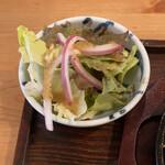 うっちゃり食堂 - サラダ、イタリアン的なドレッシング。