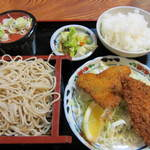kabutochoumaruya - アジフライ定食。
