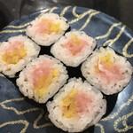 産直グルメ回転寿司 函太郎Tokyo - とろたく巻き264円。安定した美味しさです(╹◡╹)。大好物です。