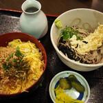 そば処 善作家 - 料理写真:そぼろ丼定食(冷)