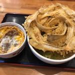 高浜や - ごぼう天うどん&ミニ丼(牛とじ丼)