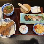 和の台所 なだまん - 両国にぎり海老ヒレかつ膳 ¥1780(税別)