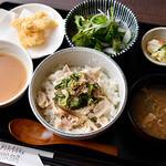 串焼黒松屋 - 鶏ひや汁御膳