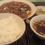 四川料理 萬来軒 - 麻婆豆腐セット 735円