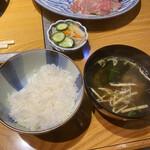牛肉割烹 自雷也 - お食事セット