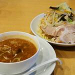 132848091 - 味噌魚介五目つけ麺(大サイズ)880円。