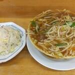 132859171 - 『 スタミナ麺 』+『 半チャーハン 』  700円+300円