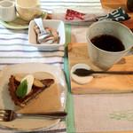 ココロ - ケーキ(350円)とセットのドリンク