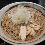 焔蔵 - 冷し肉そば(700円)