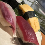 羽田 寿司幸 - 勘八と赤身と玉子