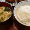 とんてい - 料理写真:ご飯と味噌汁