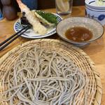 手打蕎麦 ちりん - 天ぷらせいろセット。