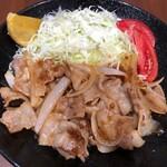 カフェラッテ - 【終了】しょうが焼き(国産豚バラ使用)