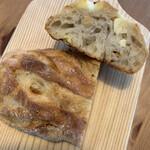 パンの店 ポルカ - ドライマンゴーいちじくカシューナッツクリームチーズパン