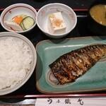 132886502 - 炭火焼魚定食 さば  ¥730(税込)