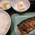 132886504 - 炭火焼魚定食 さば  ¥730(税込)