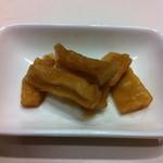 上海阿福 - お通しの大根の漬け物