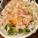 とりビアー - ニラともやしの卵黄ナムル