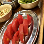とりビアー - トマトスライス/枝豆