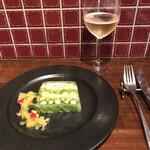 島之内フジマル醸造所 - 彩り野菜のテリーヌ パイナップルとミントのソース