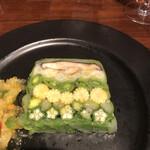 島之内フジマル醸造所 - グリーン♪グリーン♪ 季節の野菜を美しく盛り込んだ野菜のテリーヌ