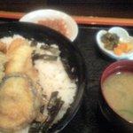 旬魚季菜 凪 - アナゴ天丼700円 ランチ
