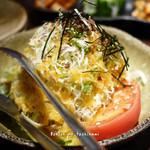 炭火焼肉 まん平 - まん平サラダ(ハーフ) 504円