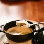 ポンレヴェック - ランチのデザート 焼きプリンとタルト