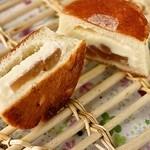 ポンレヴェック - りんごとクリームチーズのパン