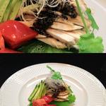 Shunsaikemmizuno - さつま地鶏の蒸鶏ゴマソース。